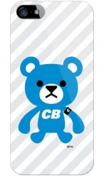 「captain bear グレー(ソフトTPUクリア)」design by PansonWorks/ for iPhone SE/5s/SoftBank